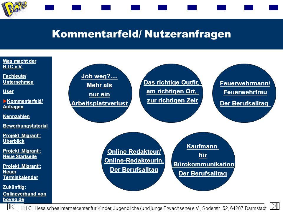 H.I.C. Hessisches Internetcenter für Kinder, Jugendliche (und junge Erwachsene) e.V., Soderstr. 52, 64287 Darmstadt Kommentarfeld/ Nutzeranfragen Kauf