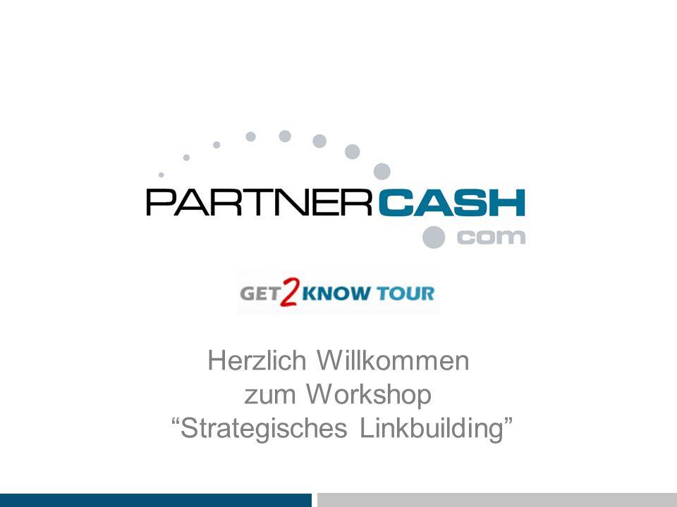 Herzlich Willkommen zum Workshop Strategisches Linkbuilding
