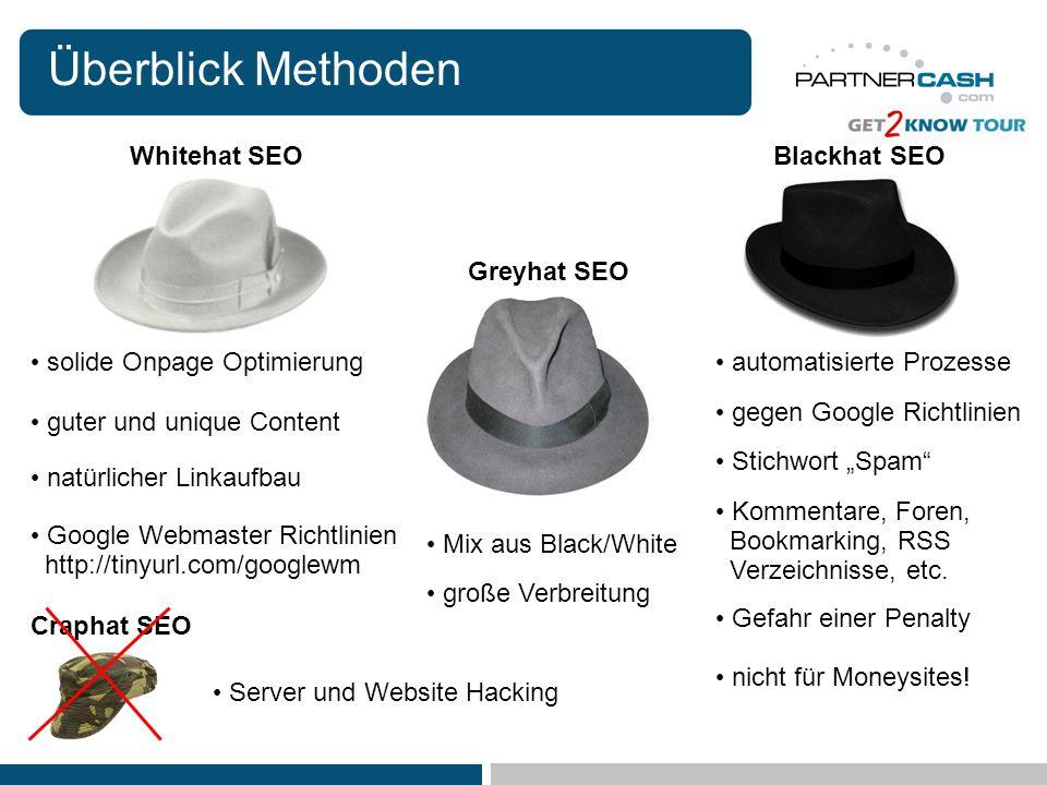 Überblick Methoden Whitehat SEOBlackhat SEO Greyhat SEO guter und unique Content automatisierte Prozesse Stichwort Spam gegen Google Richtlinien Komme