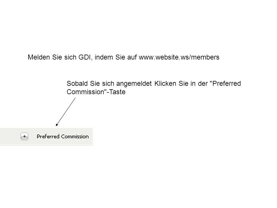 Nun blättern Sie unten auf der Seite, bis Sie das Update Current Preferred Commission Method -Box zu sehen.