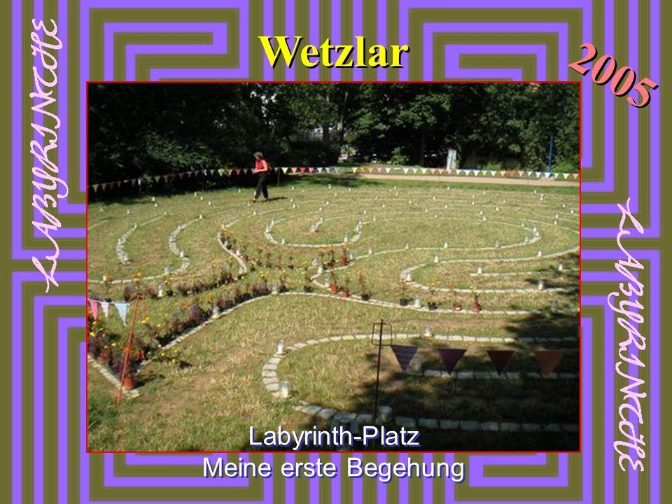 Waldlabyrinth 2004 Benediktinerkloster Damme Die Gestaltung der Mitte selbst ist variabel.