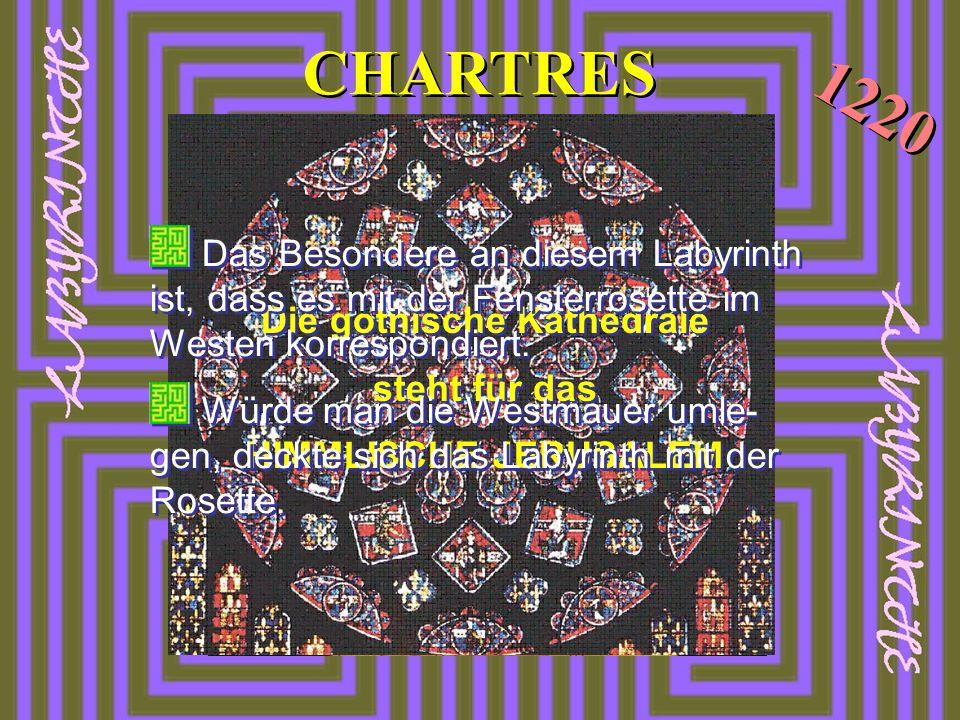 CHARTRES Die gothische Kathedrale steht für das HIMMLISCHE JERUSALEM Die gothische Kathedrale steht für das HIMMLISCHE JERUSALEM Das Besondere an dies