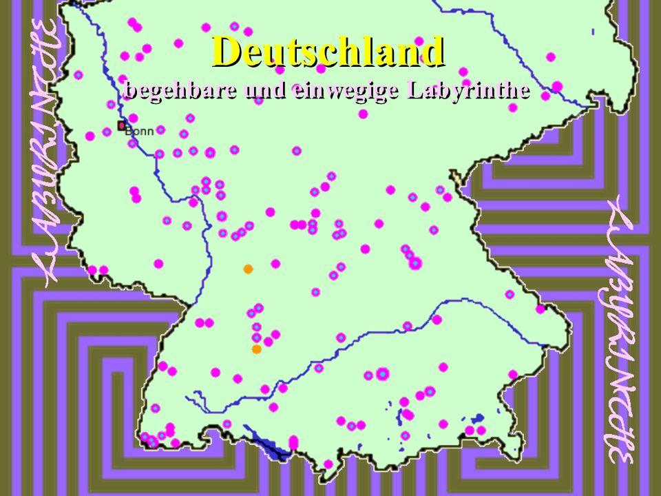 Deutschland begehbare und einwegige Labyrinthe