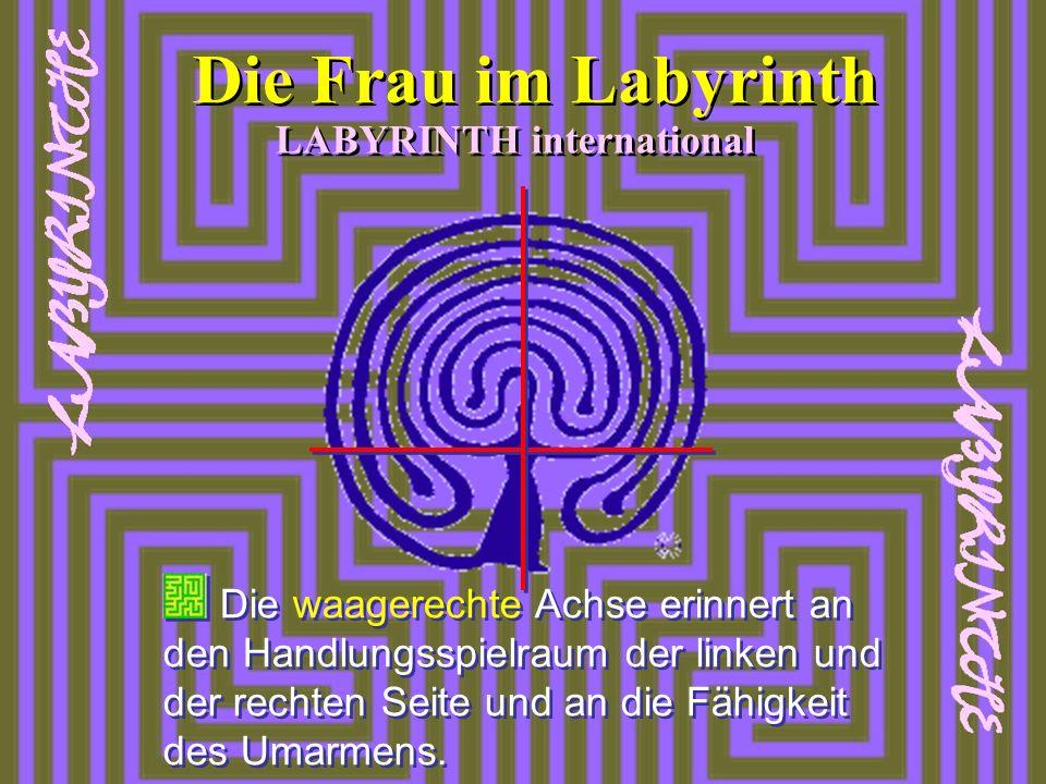 Die waagerechte Achse erinnert an den Handlungsspielraum der linken und der rechten Seite und an die Fähigkeit des Umarmens. LABYRINTH international D