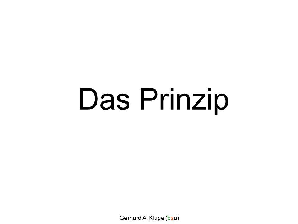 Gerhard A. Kluge (bsu) Das Prinzip