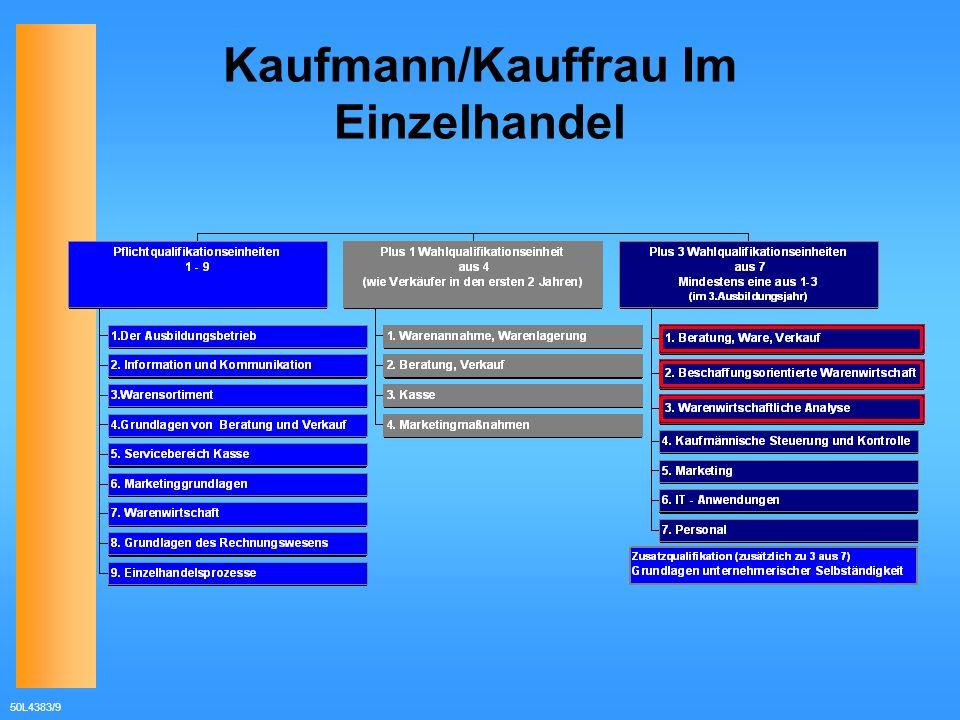 50L4383/9 Kaufmann/Kauffrau Im Einzelhandel