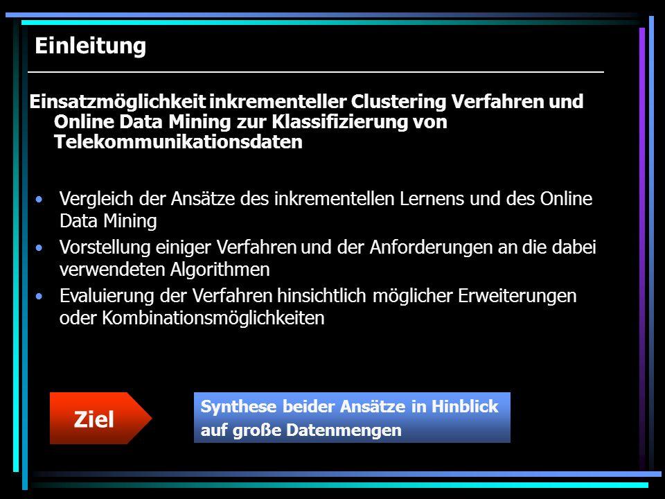 Online Data Mining Realisierung der Nutzer-Interaktion via GUI (Bsp.