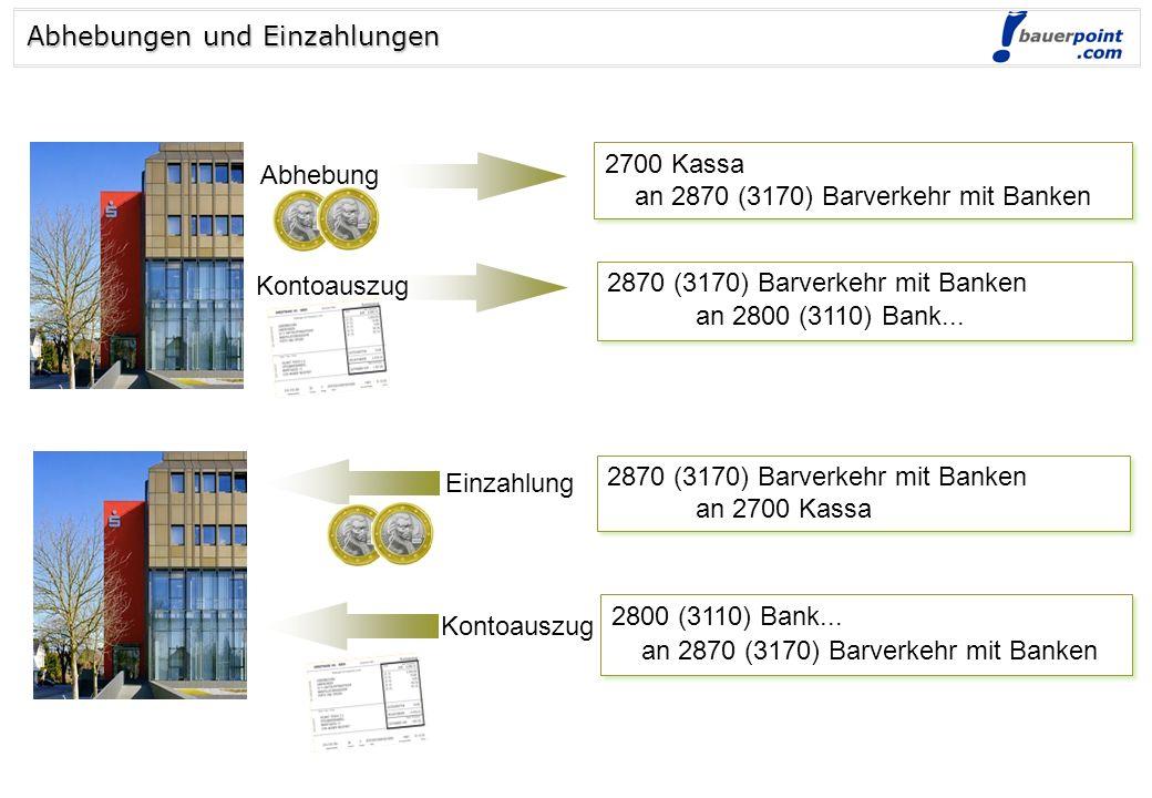 © bauerpoint.com WIR 5010 HW-Einsatz 2500 Vorsteuer an 33.. Lieferantenkonto 5010 HW-Einsatz 2500 Vorsteuer an 33.. Lieferantenkonto Verbuchung von Li