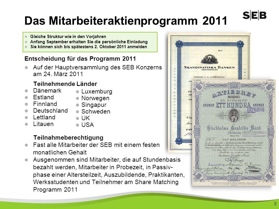 14 Wenn Sie teilnehmen möchten: Bis spätestens 2.Oktober 2011 anmelden.