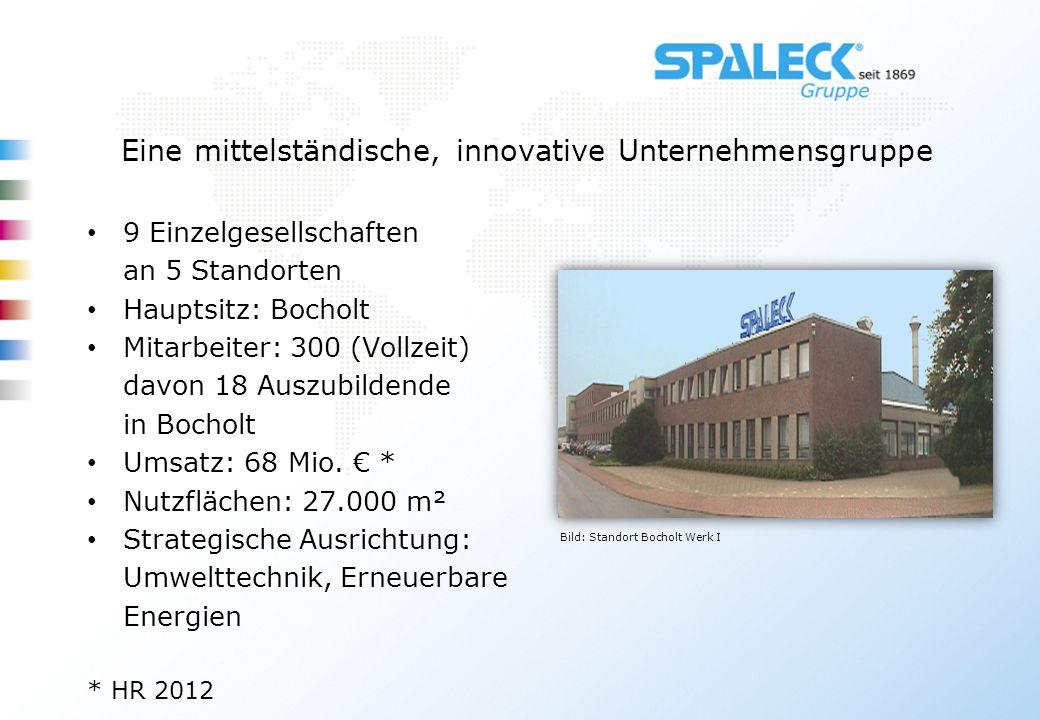 Eine mittelständische, innovative Unternehmensgruppe 9 Einzelgesellschaften an 5 Standorten Hauptsitz: Bocholt Mitarbeiter: 300 (Vollzeit) davon 18 Au