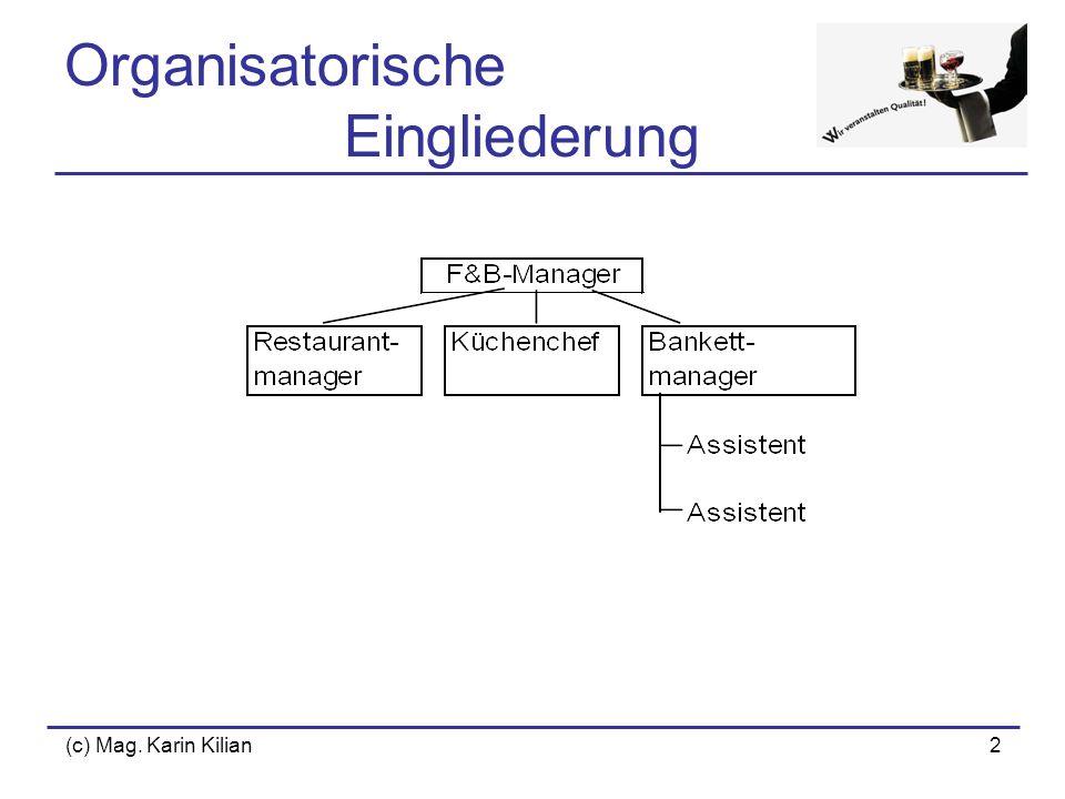 (c) Mag. Karin Kilian2 Organisatorische Eingliederung