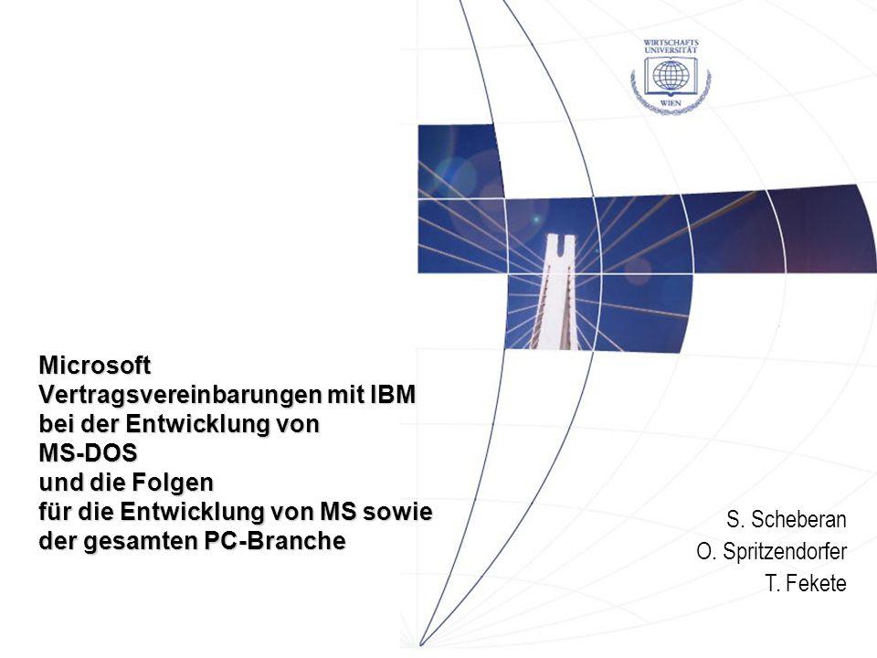 Firmengeschichten IBM / Microsoft