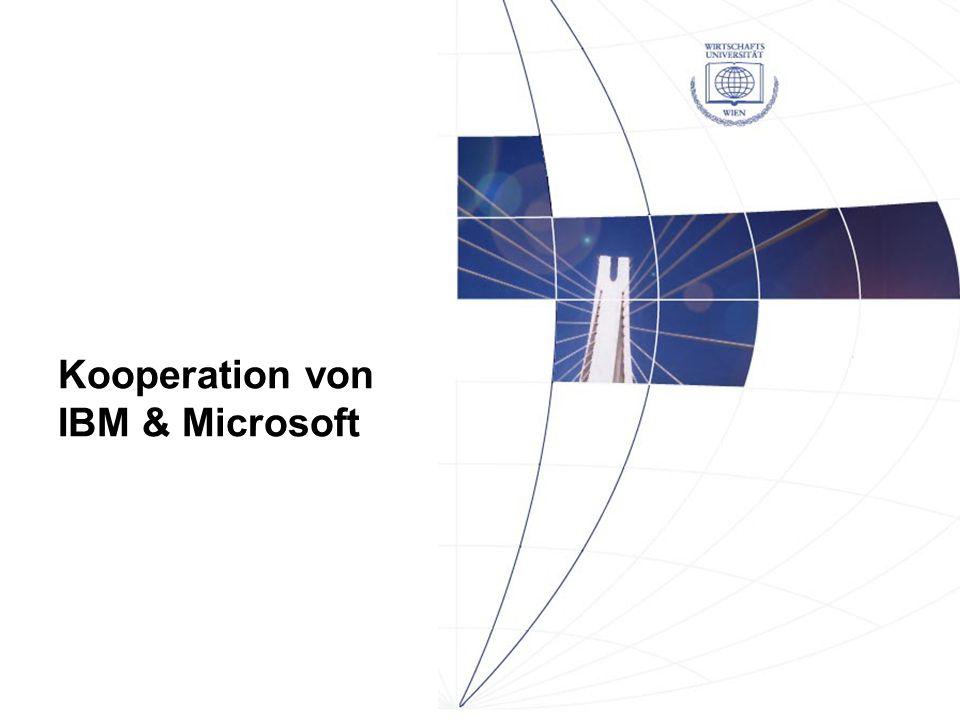 Kooperation von IBM & Microsoft