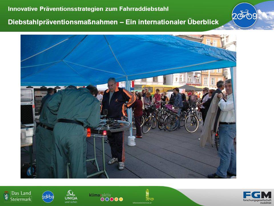 Innovative Präventionsstrategien zum Fahrraddiebstahl Diebstahlpräventionsmaßnahmen – Ein internationaler Überblick