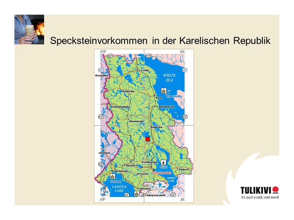 Specksteinvorkommen in der Karelischen Republik