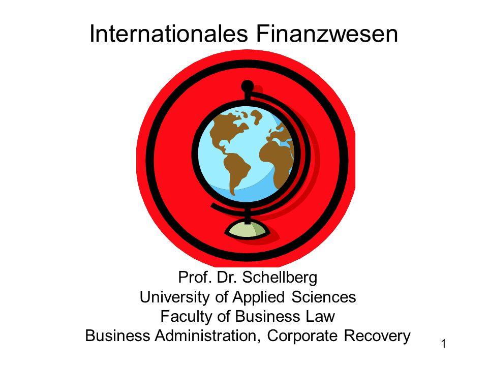 1 Internationales Finanzwesen Prof.Dr.