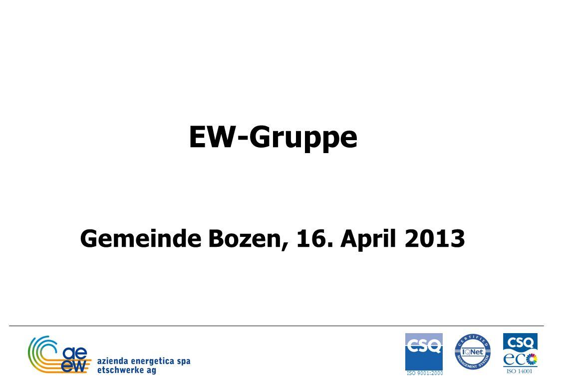 1 EW-Gruppe Gemeinde Bozen, 16. April 2013 ISO 9001:2000