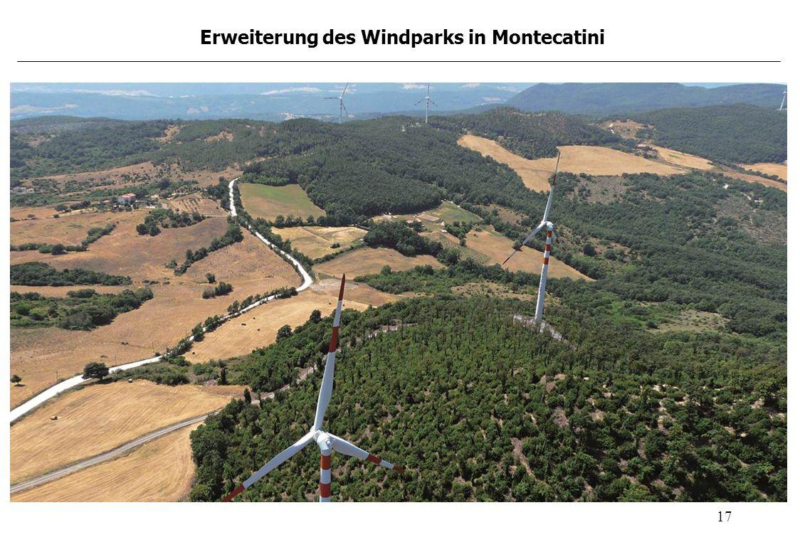 17 Erweiterung des Windparks in Montecatini