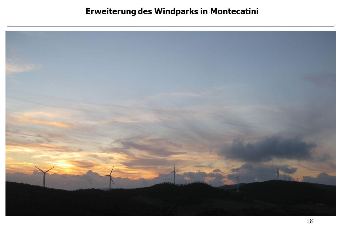 18 Erweiterung des Windparks in Montecatini