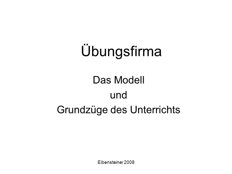 Eibensteiner 2008 Übungsfirma Das Modell und Grundzüge des Unterrichts