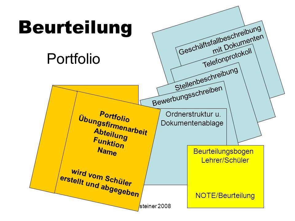 Eibensteiner 2008 Geschäftsfallbeschreibung mit Dokumenten Telefonprotokoll Stellenbeschreibung Bewerbungsschreiben Ordnerstruktur u. Dokumentenablage