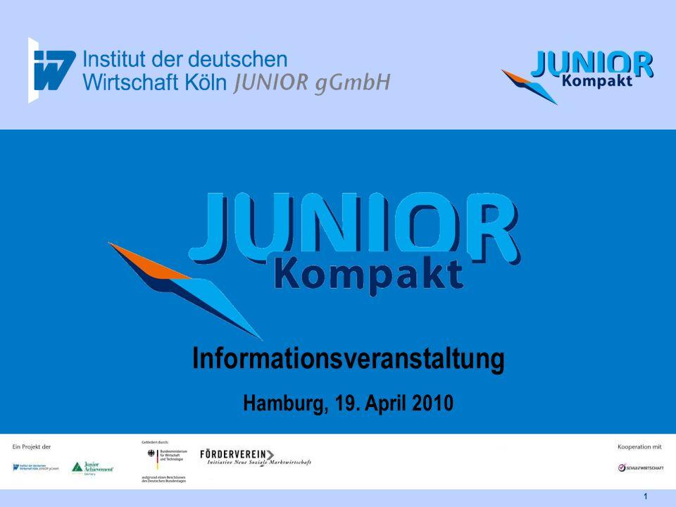 JUNIOR-Kompakt Informationsveranstaltung2 Ergänzende Angebote Ablauf Agenda Kontakt Einleitung Überblick