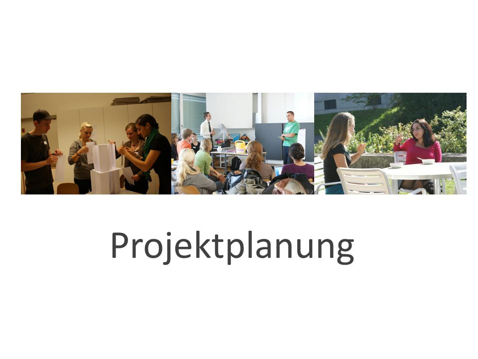 Definitions- phase Planungs- Konzeptionsphase Realisierungs- Umsetzungs- phase Auswertungs- phase
