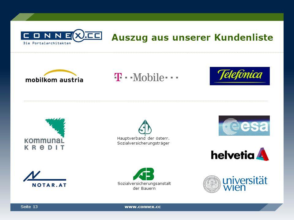 www.connex.ccSeite 13 Auszug aus unserer Kundenliste Hauptverband der österr.