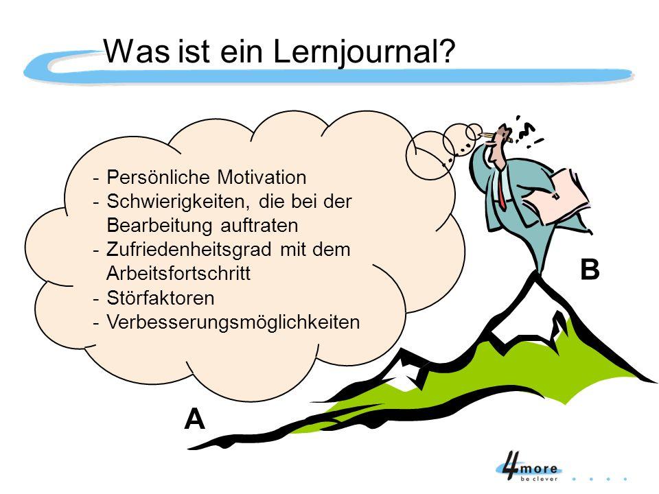 -Persönliche Motivation -Schwierigkeiten, die bei der Bearbeitung auftraten -Zufriedenheitsgrad mit dem Arbeitsfortschritt -Störfaktoren -Verbesserung
