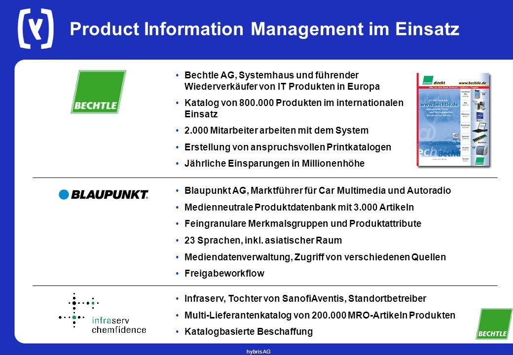 hybris AG Product Information Management im Einsatz Bechtle AG, Systemhaus und führender Wiederverkäufer von IT Produkten in Europa Katalog von 800.00