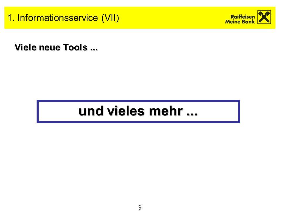 20 Raiffeisen Direkt Depot für NÖ-W Auf ins Internet...