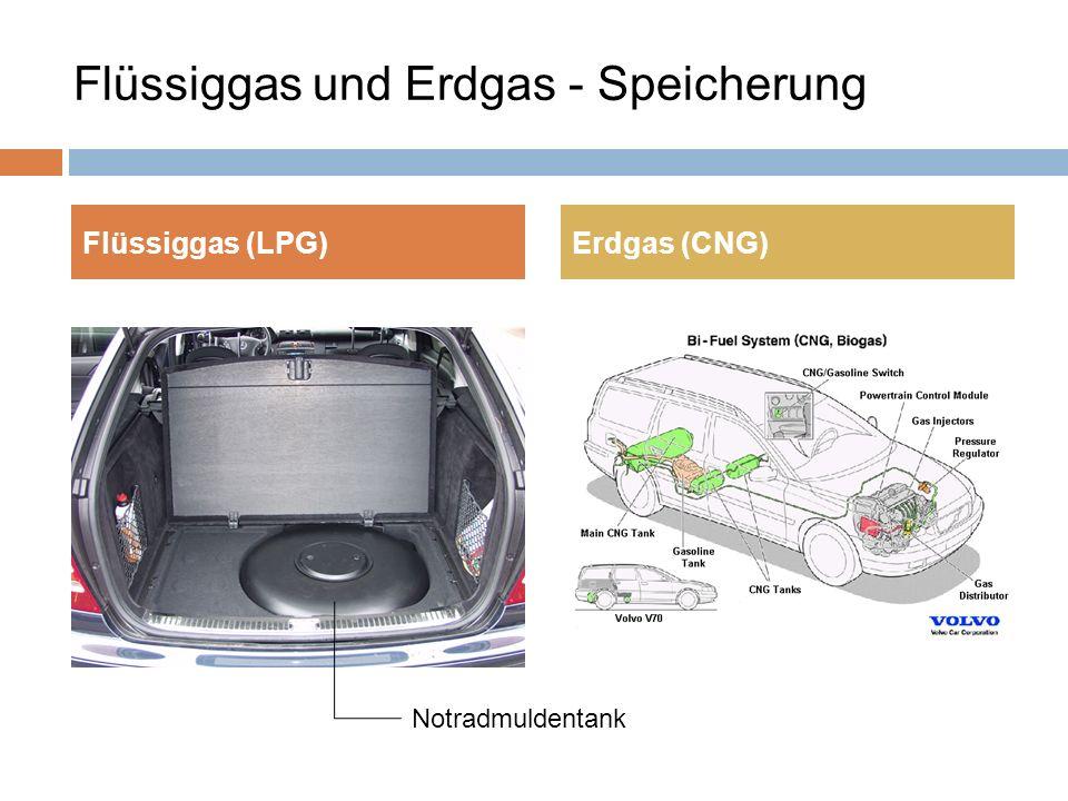 Flüssiggas und Erdgas - Speicherung Flüssiggas (LPG)Erdgas (CNG) Notradmuldentank