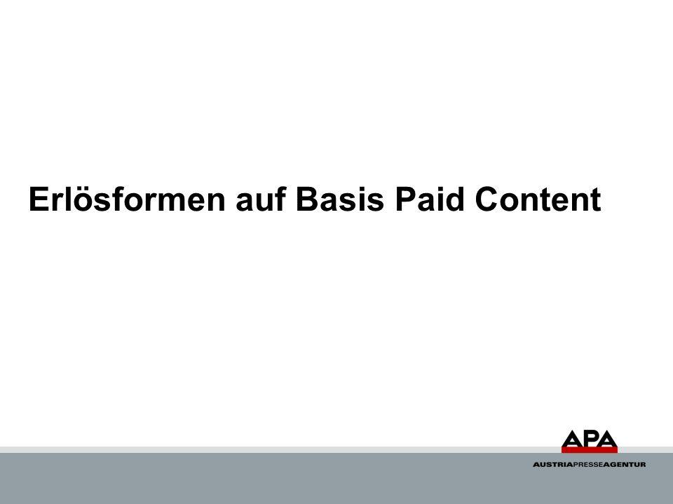 Erlösformen auf Basis Paid Content