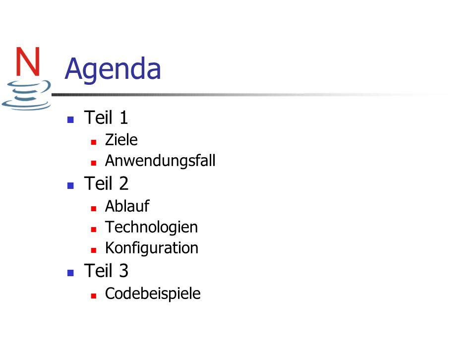 Agenda Teil 1 Ziele Anwendungsfall Teil 2 Ablauf Technologien Konfiguration Teil 3 Codebeispiele
