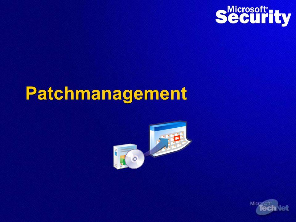Patch Grösse reduzieren Patch Komplexität reduzieren Patch-Risiko minimieren Downtime reduzieren Bis Sommer 2004: Durchgängige Patch- Rollback- Fähigkeit für Windows, SQL, Exchange, Office Bis Sommer 2004: 80% Reduktion der Grösse.