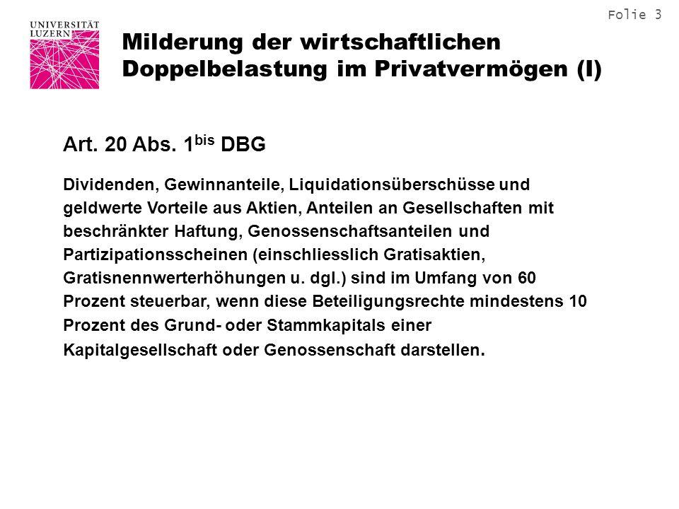 Folie 14 Privatentnahme Liegenschaft – Grundlagen: Art.