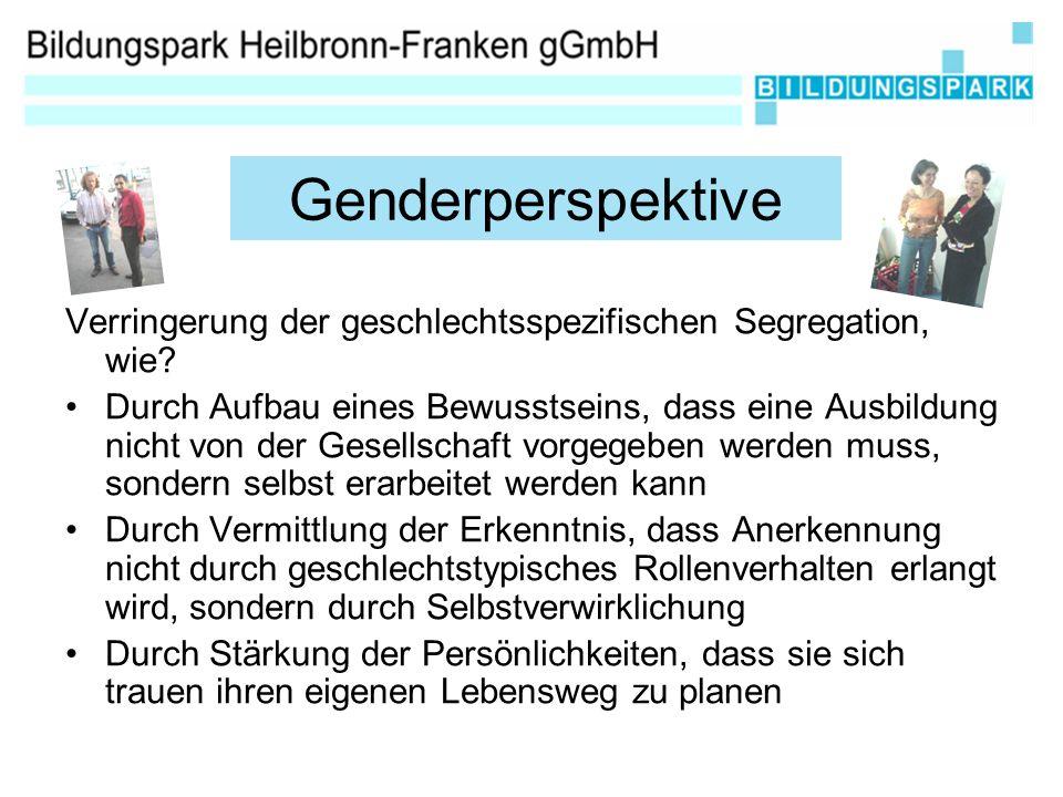 Verringerung der geschlechtsspezifischen Segregation, wie.