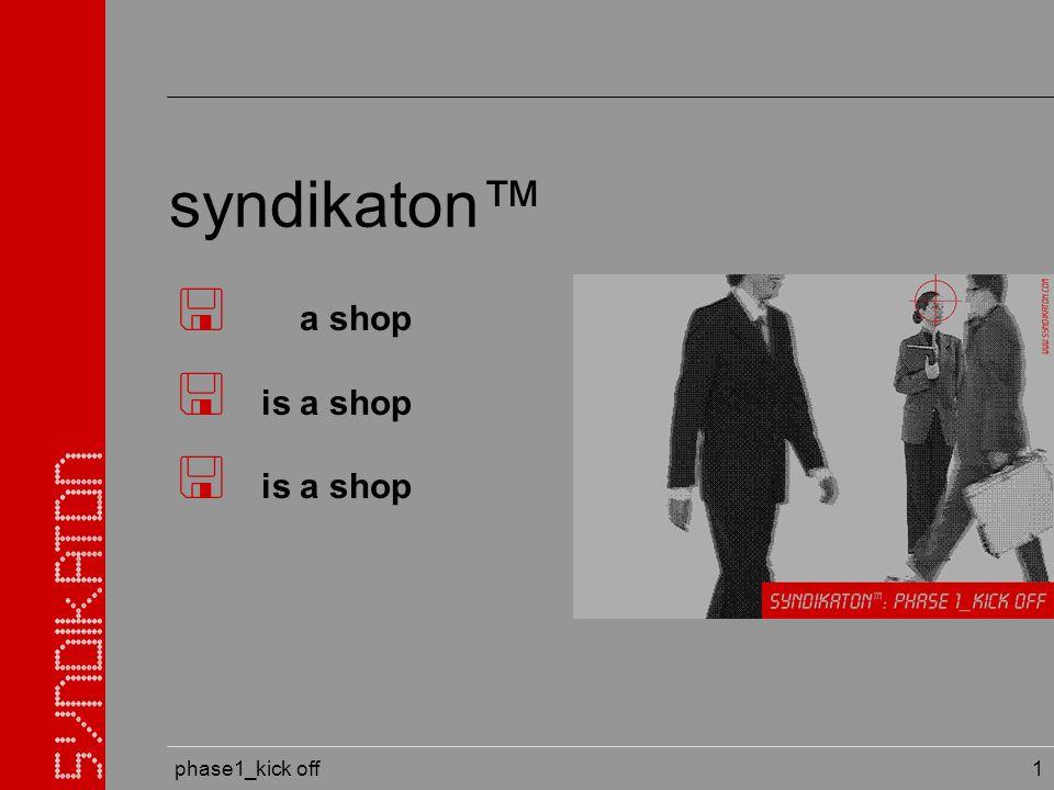 phase1_kick off 32 globale präsenz unter: www.syndikaton.org