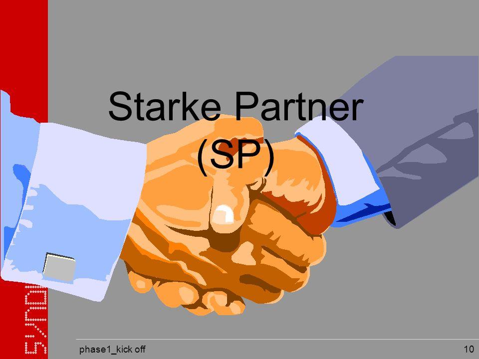 phase1_kick off 10 Starke Partner (SP)