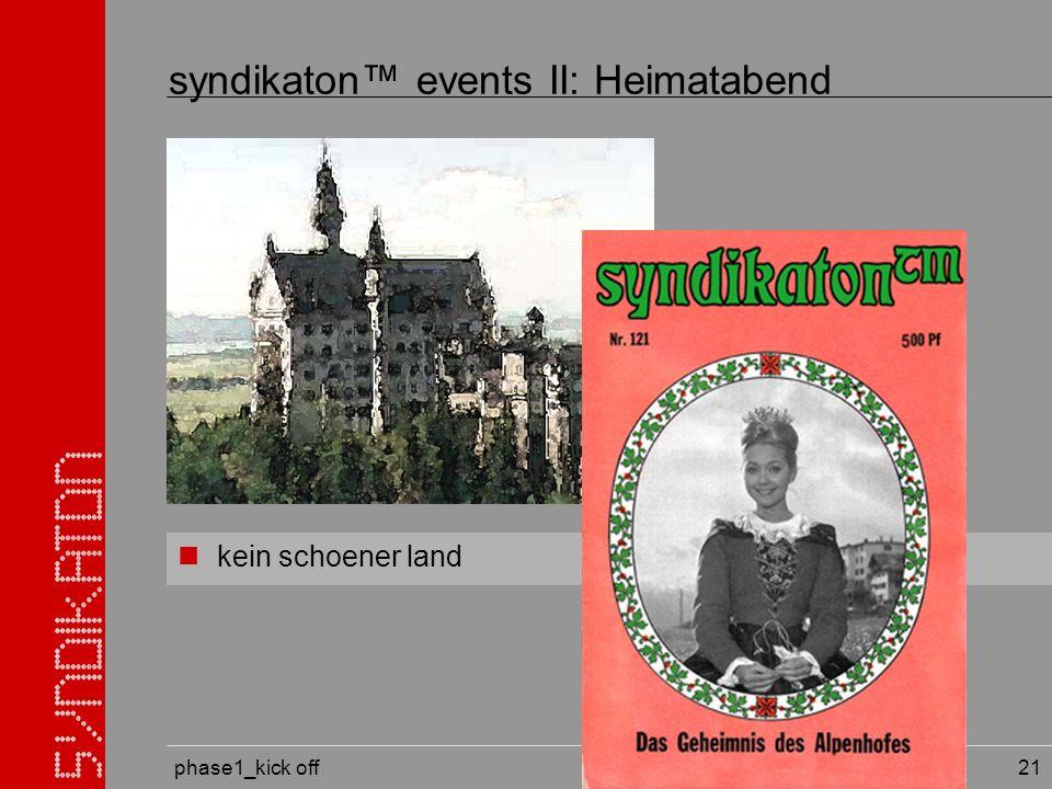 phase1_kick off 21 kein schoener land syndikaton events II: Heimatabend