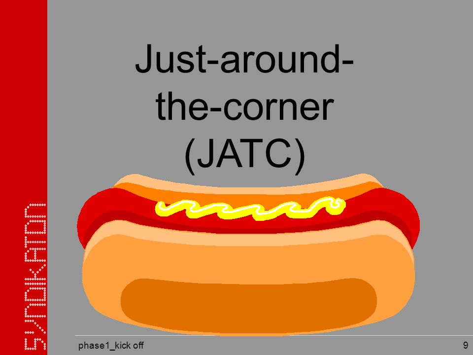 phase1_kick off 9 Just-around- the-corner (JATC)