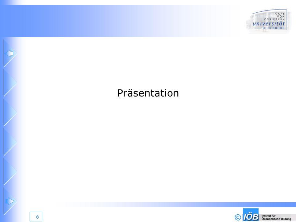 © 7 Präsentation - Projektauftrag Präsentation der Ergebnisse der Vorphase und der Analysephase Präsentation von alternativen Realisierungskonzepten Präsentation des Projektplanes Erteilung des Projektauftrages Festlegung der Projektziele Festlegung des Kostenrahmens