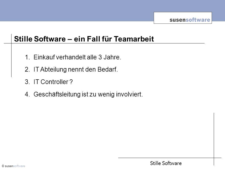 Stille Software – ein Fall für Teamarbeit © susensoftware 1.