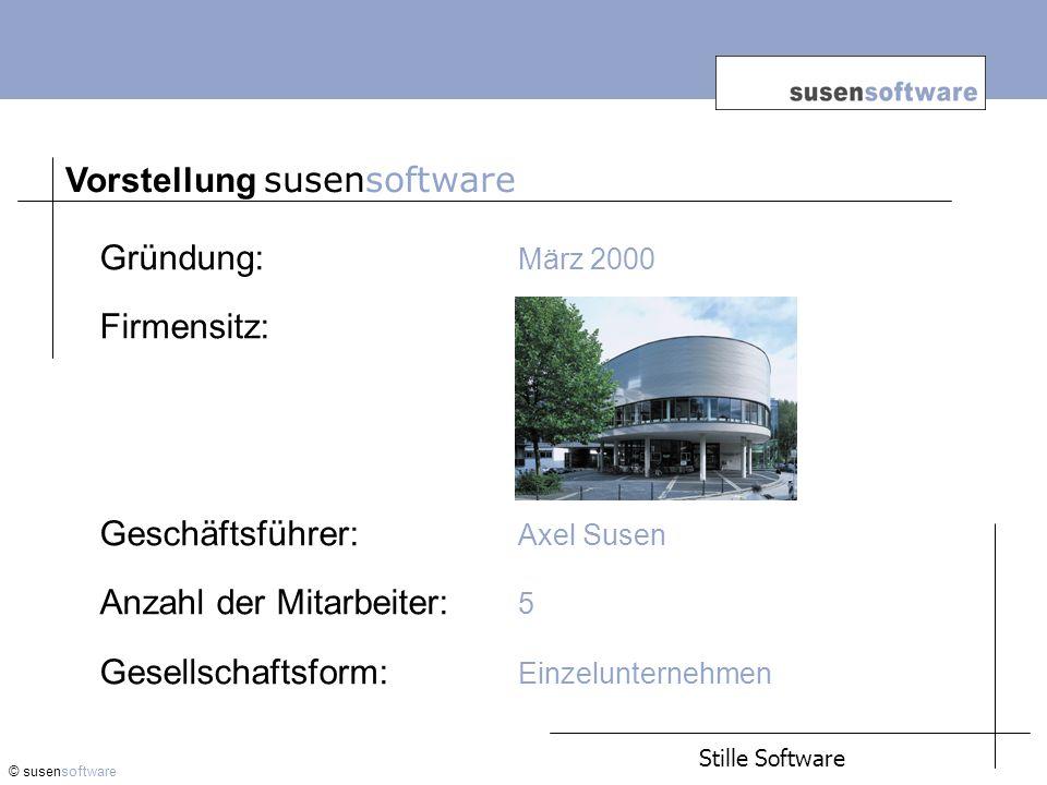 Vorstellung © susensoftware Geschäftsfeld: Handel mit gebrauchten Software- Lizenzen von Microsoft und SAP.