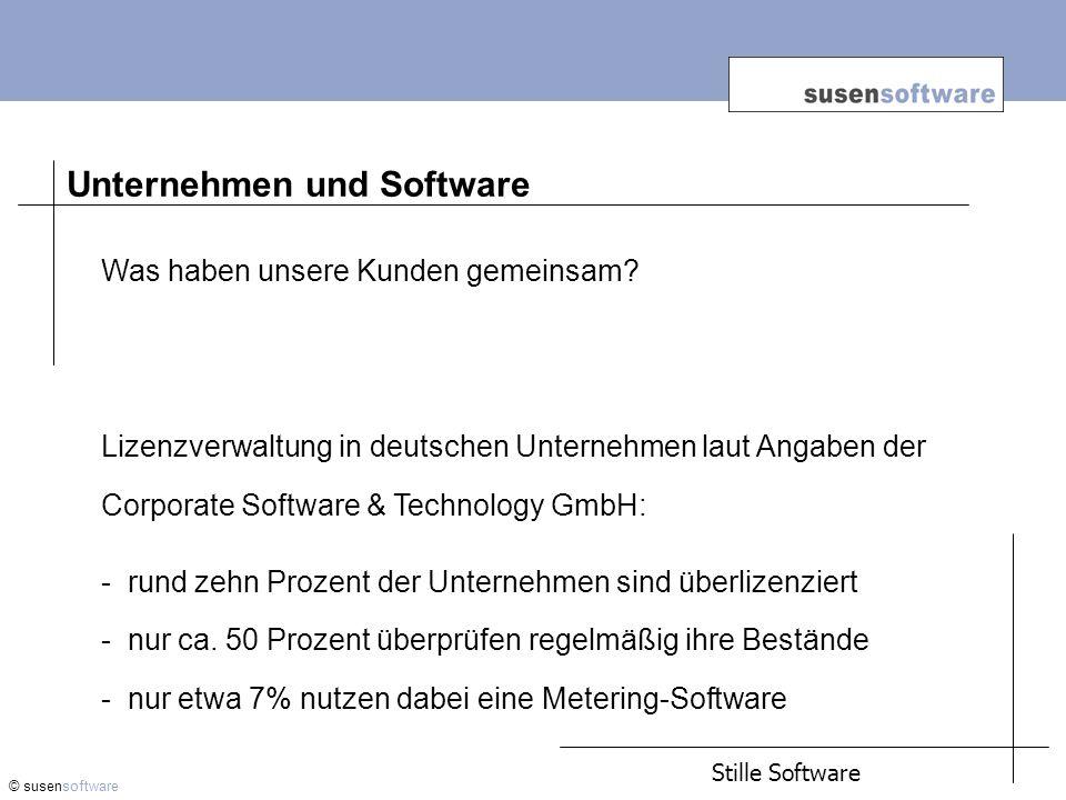 Success Stories (Auszug): © susensoftware Sparmodell Handel: Durch ein Useroptimierung konnten Einsparungen von mehr als 2 Mio.