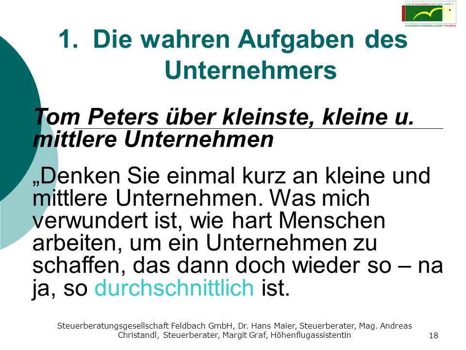 Steuerberatungsgesellschaft Feldbach GmbH, Dr. Hans Maier, Steuerberater, Mag. Andreas Christandl, Steuerberater, Margit Graf, Höhenflugassistentin 18