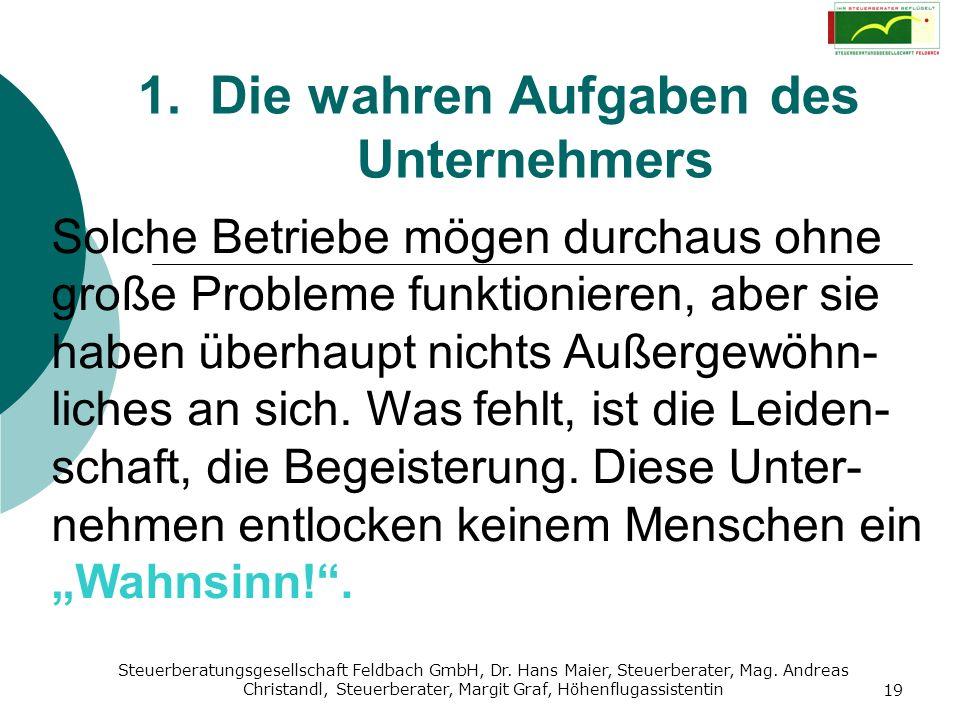Steuerberatungsgesellschaft Feldbach GmbH, Dr. Hans Maier, Steuerberater, Mag. Andreas Christandl, Steuerberater, Margit Graf, Höhenflugassistentin 19