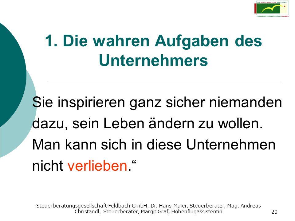 Steuerberatungsgesellschaft Feldbach GmbH, Dr. Hans Maier, Steuerberater, Mag. Andreas Christandl, Steuerberater, Margit Graf, Höhenflugassistentin 20