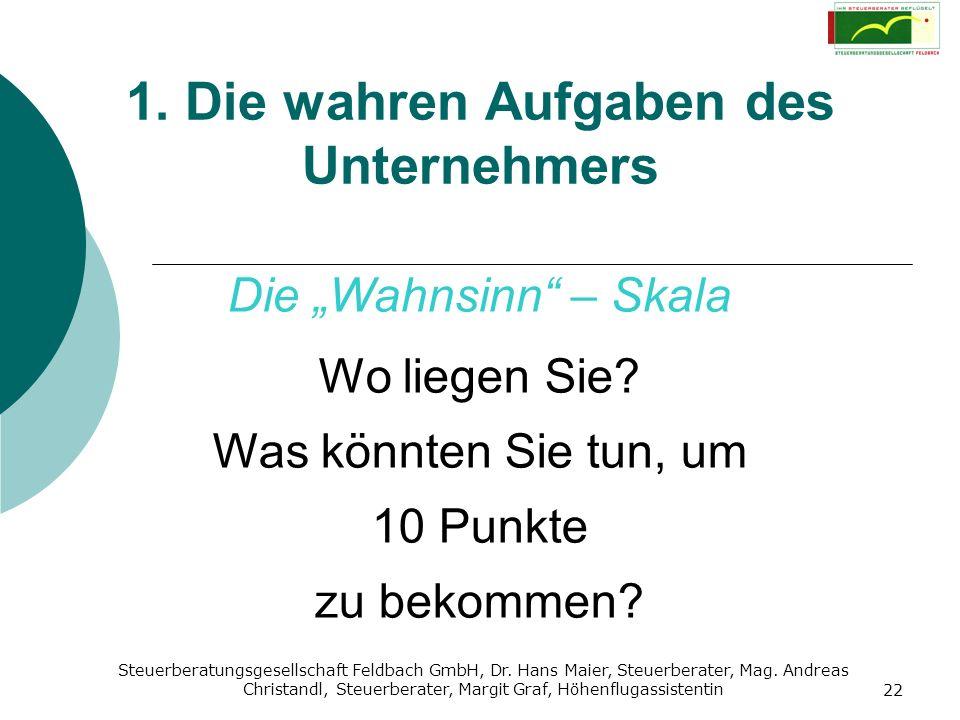 Steuerberatungsgesellschaft Feldbach GmbH, Dr. Hans Maier, Steuerberater, Mag. Andreas Christandl, Steuerberater, Margit Graf, Höhenflugassistentin 22