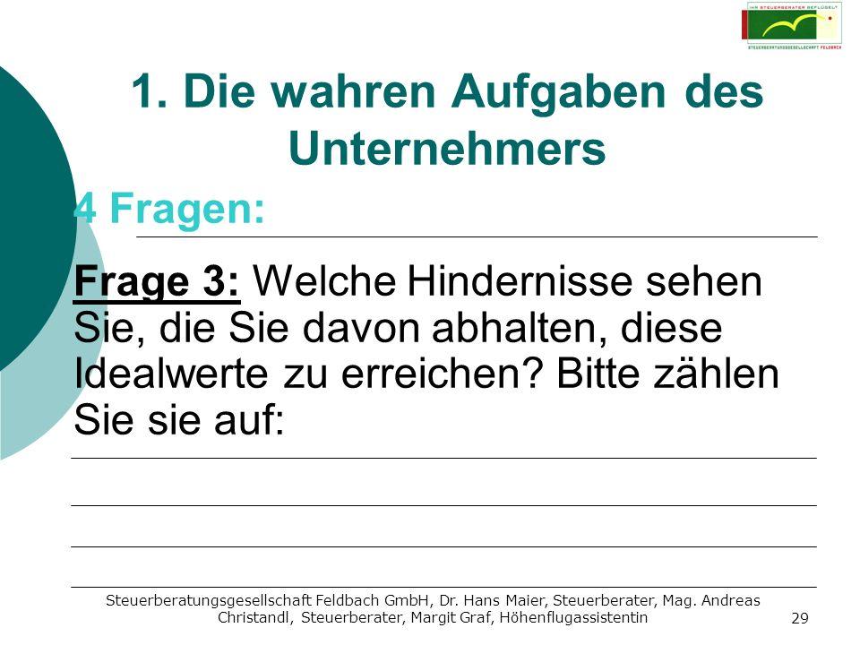 Steuerberatungsgesellschaft Feldbach GmbH, Dr. Hans Maier, Steuerberater, Mag. Andreas Christandl, Steuerberater, Margit Graf, Höhenflugassistentin 29